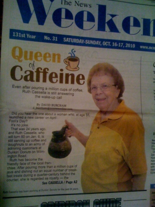 The Queen of Caffeine indeed.
